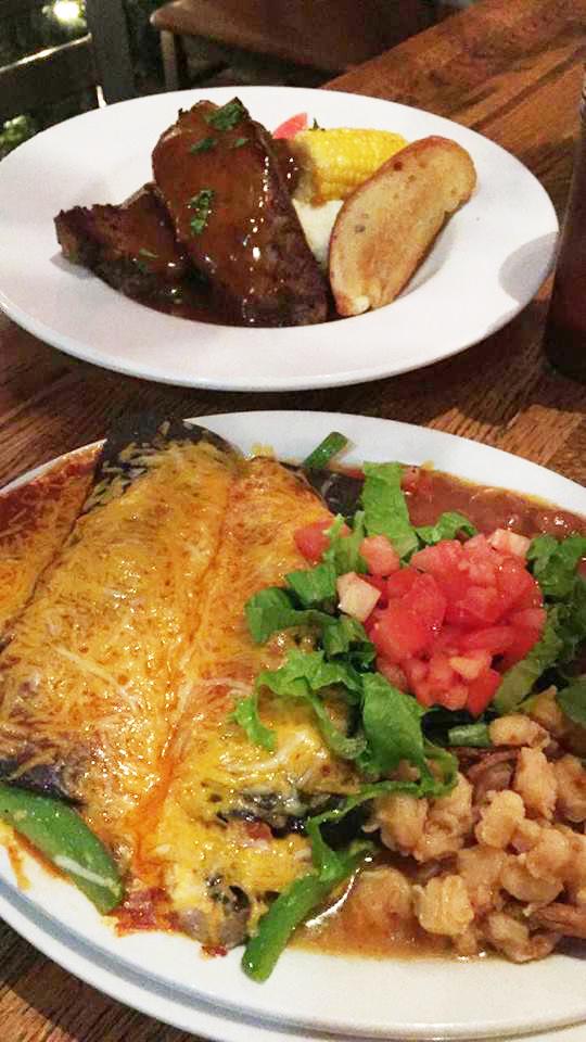 Enchiladas and Ribs