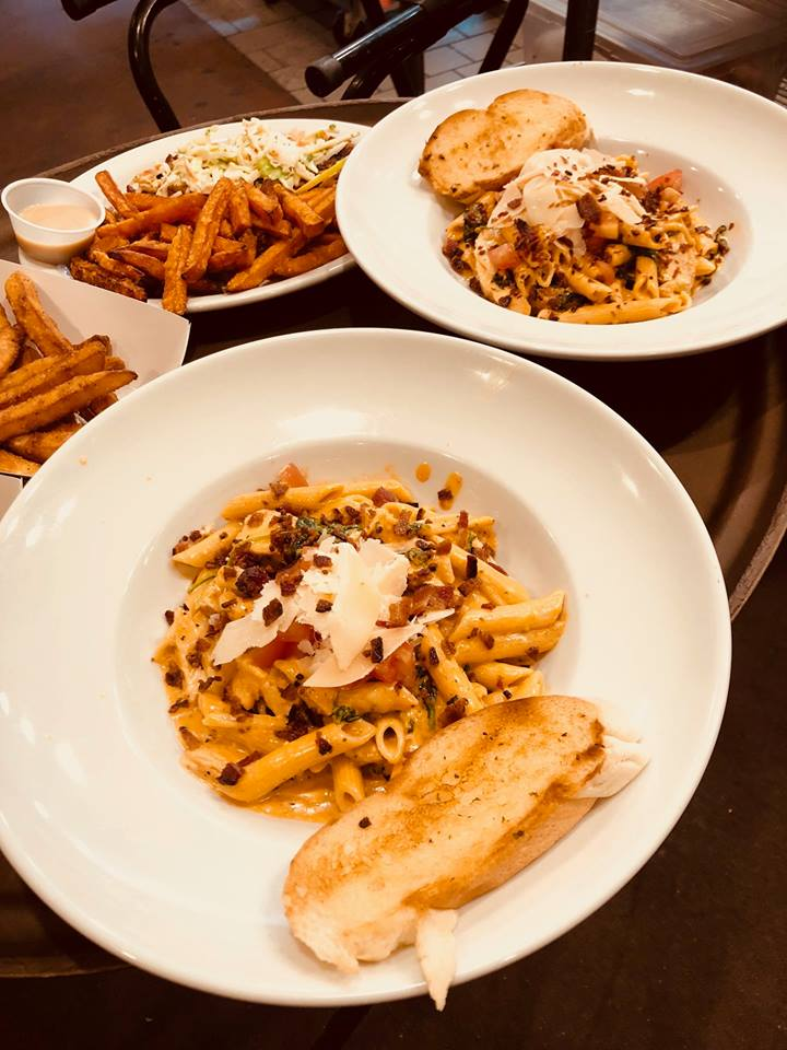 Pasta and Sweet Fries